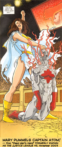 Mary Marvel pummels Captain Atom!!