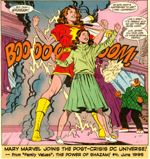 Mary Marvel appears for the first time...in the Post-Crisis DC Universe