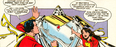 Captain Marvel and Mary realize that Mr. Atom is no longer a threat after discovering his ultimate purpose.