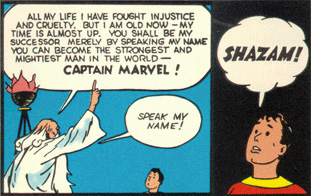 Billy Batson meets Shazam and is about to become Captain Marvel for the first time!