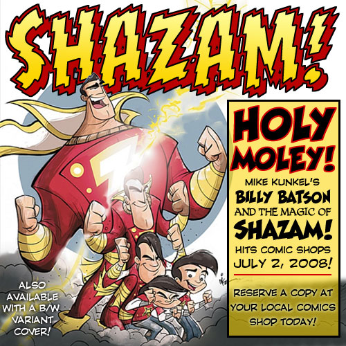 Billy Batson and The Magic of Shazam! Hits Comic Shops July 2, 2008 border=