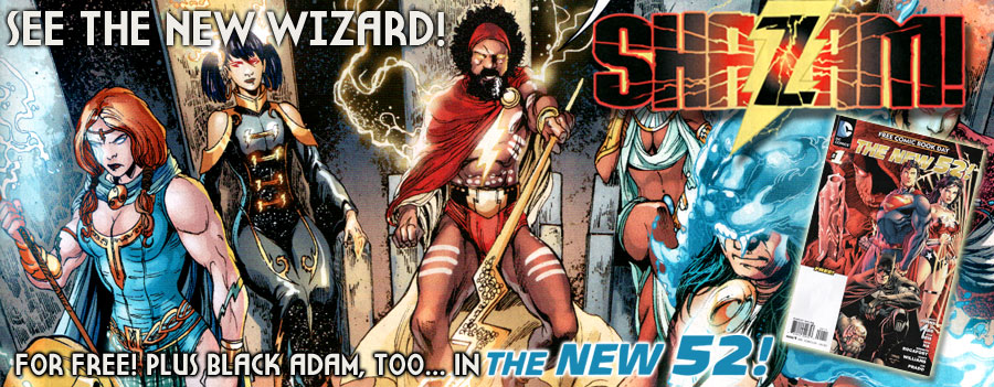 SHAZAM Its The New Wizard And Black Adam Revealed In FCBDs 52