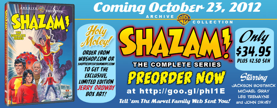 Jerry Ordway Exclusive DVD Box Art for Shazam! The Complete Series is Available for Preorder at the WB Shop! border=